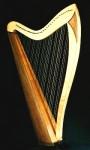 Celtic style harp